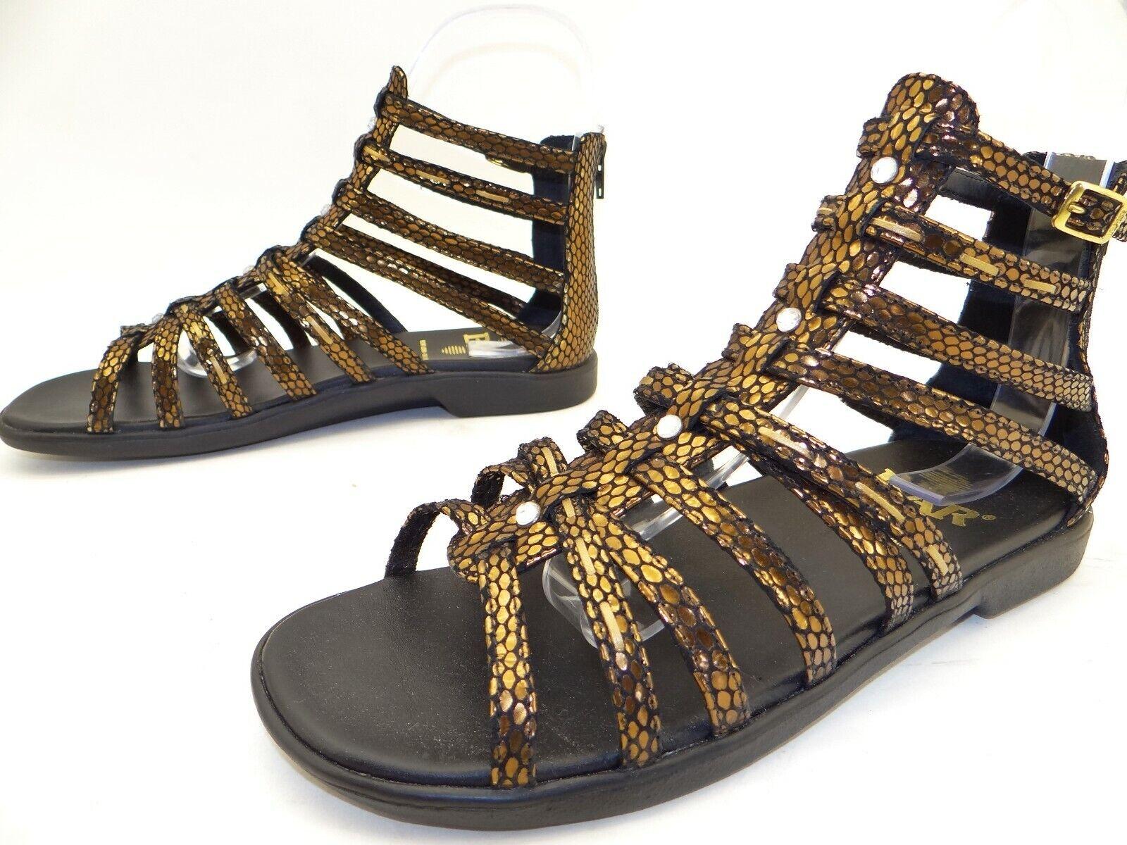 BÄR Damen Sommer Schuhe Riemchen Römer Sandalen Barfuß Pantoletten Gr. 39 UK 6