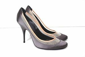 6 Heel Mesh Toe Detail 39 Silver Uk Satin Almond Givenchy v7zYx