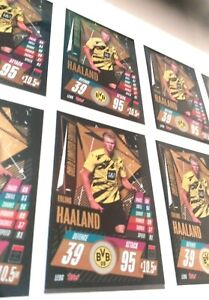 HAALAND topps no panini LIMITED GOLD EDITION X10 Cards match Attax 2020-21 NEW