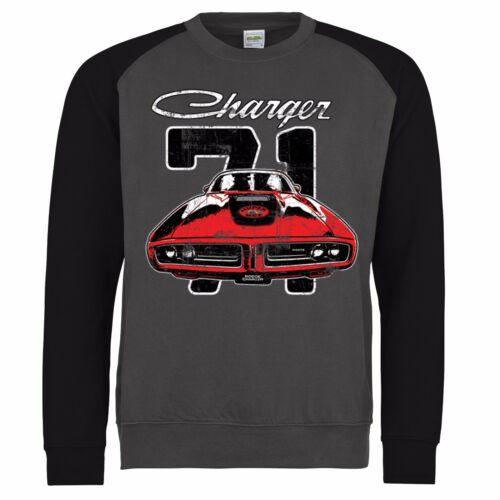 American Rt licencia con Sudadera Car Classic Muscle Dodge Charger Mopar Autorretrato 0HfFZxx