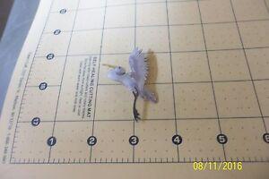 .925 Sterling Silver Enamel Crane Brooch