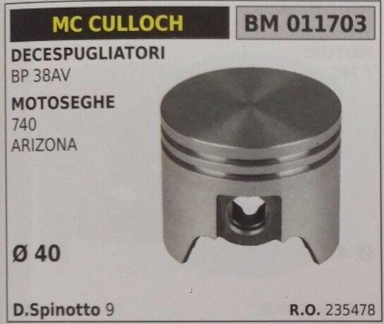 235478 PISTÓN COMPLETO SEGMENTOS Y VUELTA CORTADOR DE CEPILLO McCULLOCH BP 38AV