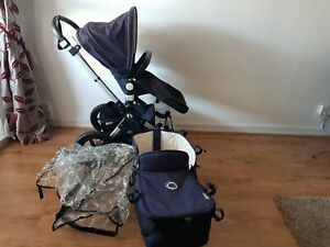 x2 Bugaboo Cameleon 1,2 3 Faux Leather Zip On Handlebar Covers-FREE POST TO UK