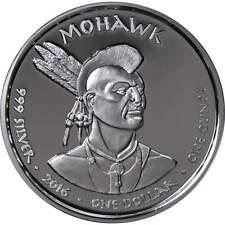 2016 Sioux Native American .999 Fine Silver 1 OZ Round Coin Buffalo Crazy Horse