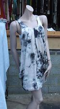H&M UK sz 8 Lovely Silky Multicolour Short Puffball Hemline Sleeveless Dress