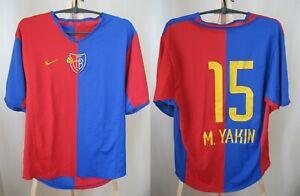 latest save off best loved Details about FC Basel 1893 #15 Yakin 2002/2003/2004 home Sz M Nike shirt  jersey soccer trikot