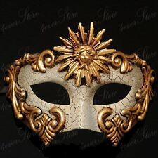 Venetian Masquerade Mardi Gras Mask Vintage Design For Men - Gold