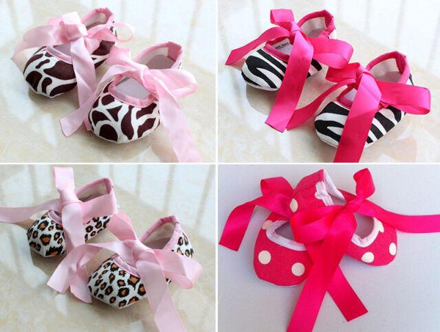 Newborn Baby Girls Kids Crib Shoes Infant First Walkers Toddler Prewalkers 3-15M