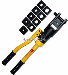 hydraulic electrical crimper crimping tool 10 dies 10 ton 500 mcm 240mm cable ebay. Black Bedroom Furniture Sets. Home Design Ideas