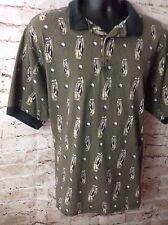 Farah Men's Polo Golf Short Sleeve Shirt X-L Black & Beige