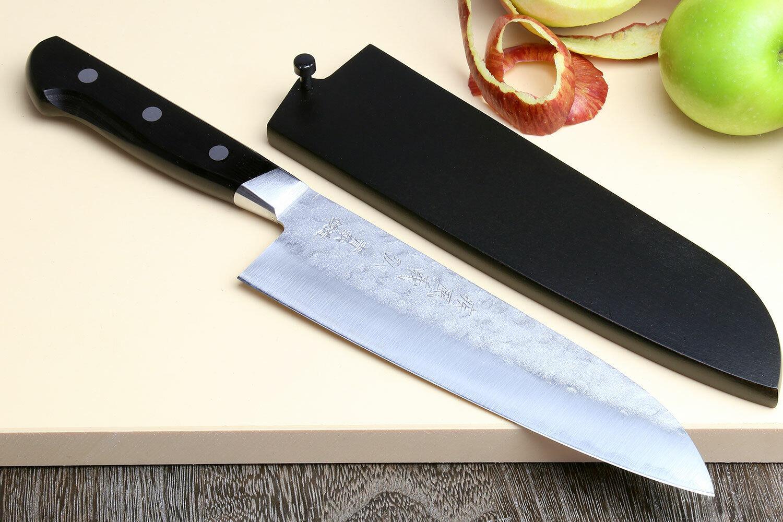Yoshihiro Aoko bleu Steel  2 Santoku multifonction Chef japonais couteau 7  (180 mm)