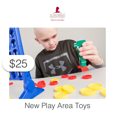 $25 Charitable Donation For: New Play Area Toys