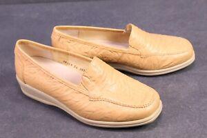 C1220-Goldkrone-Damen-Schuhe-Slipper-Leder-beige-Gr-36-5-4H-Wechselfussbett