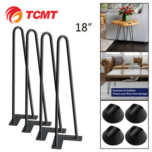 18-inch-Set-of-4-Black-Hairpin-Coffee-Table-Leg-Solid-Iron-Metal-Bar-Desk-Legs