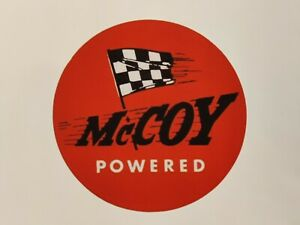 MCCOY ENGINES STICKERS x 6 - VINTAGE - CONTROL LINE PLANE - DECAL