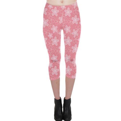 Pretty Pink Sakura Cherry Blossom Flower Women/'s Leggings Size XS 5XL Plus