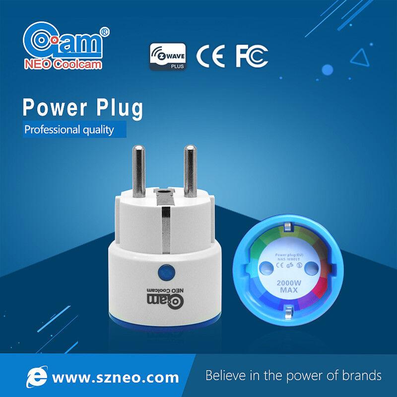 Z-Wave EU US Smart Power Plug Power Metering On Off Fibaro SmartThings GEN 5