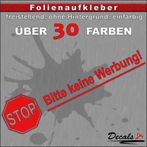 TE1-Folienaufkleber-Text-Briefkasten-034-Keine-Werbung-034-Reklame-12-18cm