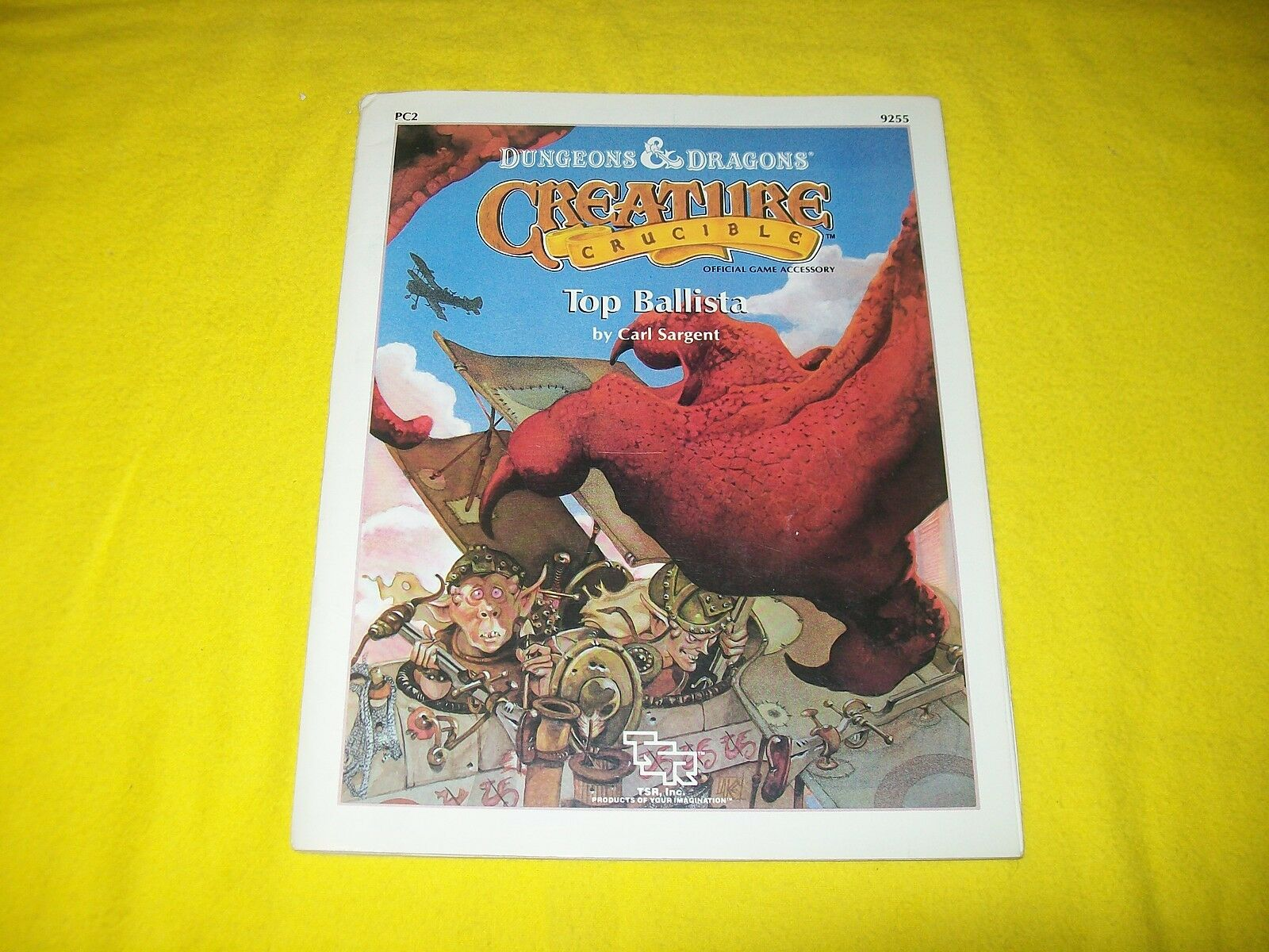 PC2 TOP BALISTA DUNGEONS & DRAGONER CREATURE CRUCIBL TSR 9255 - 2 MED MAP
