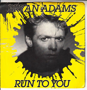 BRYAN-ADAMS-Run-To-You-PICTURE-SLEEVE-7-034-45-rpm-record-juke-box-title-strip