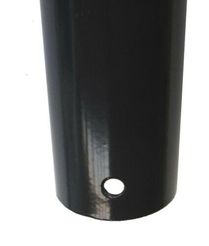 Zaunpfahl Metall Ø 34 mm für 1,2m Metall-Zaun-Anlage Schweißgitter-draht grau