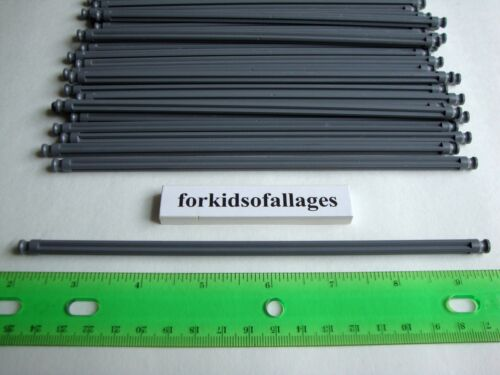 "25 KNEX DARK GRAY RODS 7 1//2/"" Pieces 7.5/"" Bulk Standard Replacement Parts Lot"