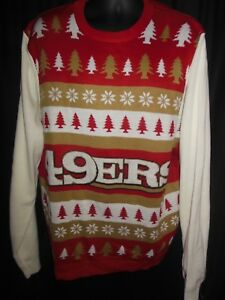 San Francisco 49ers Mens Nfl Ugly Christmas Sweater Ebay