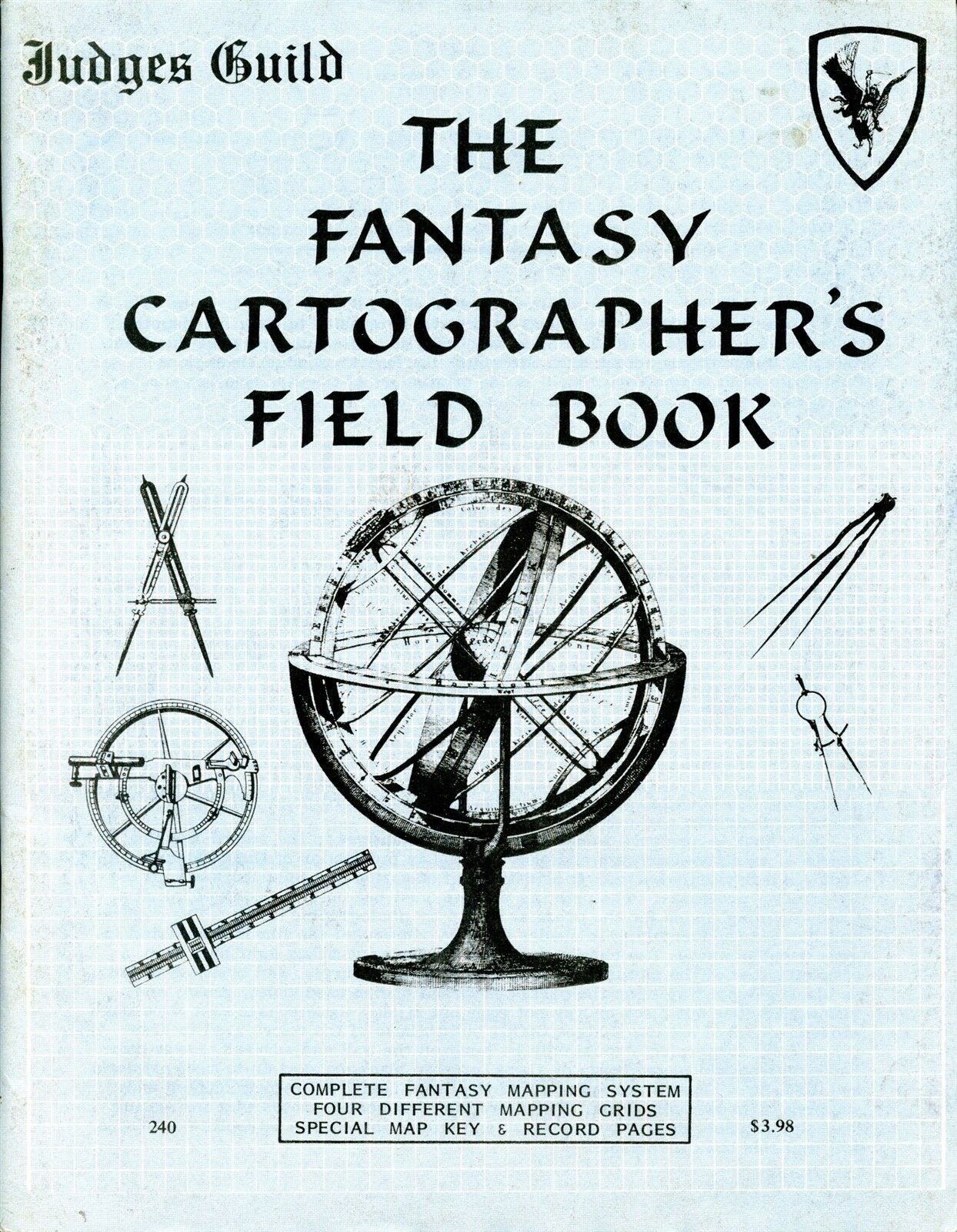 JUDGES GUILD THE FANTASY CARTOGRAPHERS FIELD BOOK VGC  TSR AD&D D&D