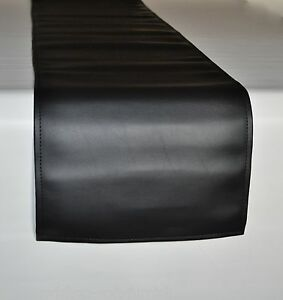 Delicieux Image Is Loading Black Faux Leather Table Runner 33cm Wide 1