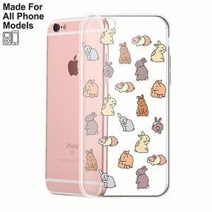 Rabbit-Clear-TPU-Case-iPhone-11-pro-max-x-xr-8-plus-7-6-Galaxy-S10-S9-Note-9-8