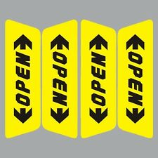 Reflective Car Door Open Night Safety Warning Sign Sticker Yellow (Set of 4Pcs).
