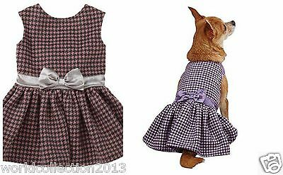 East Side Collection Wool/Polyester Teatime Dog Lined Dress S/M Purple