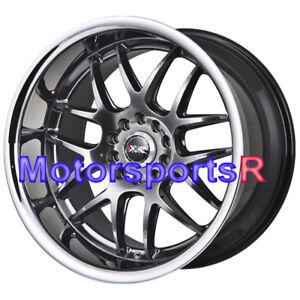 XXR-526-18-x-9-10-5-Chromium-Black-Deep-Dish-Staggered-Rims-5x120-5x4-5-Wheels