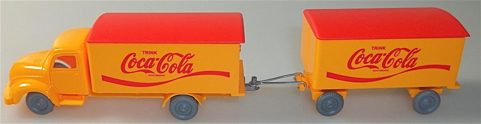 Coca-Cola Magirus Rundhauber Hängerzug orange red IMU H0 H0 H0 1 87    å a82d9a