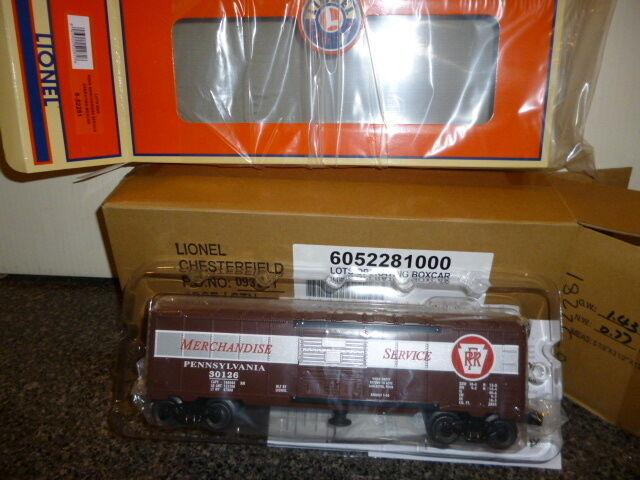 Lionel PRODUZIONE LIMITATA 52281 lotti OPER. autoRO MERCI PENNSYLVANIAMenta B9
