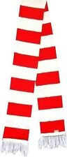 Unisex Where Red And White Striped Winter Wear Style Scarf Fancy Dress Wally Fun