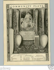 1927 PAPER AD 5 PG Community Plate Silverware Hampton Court Pattern Design