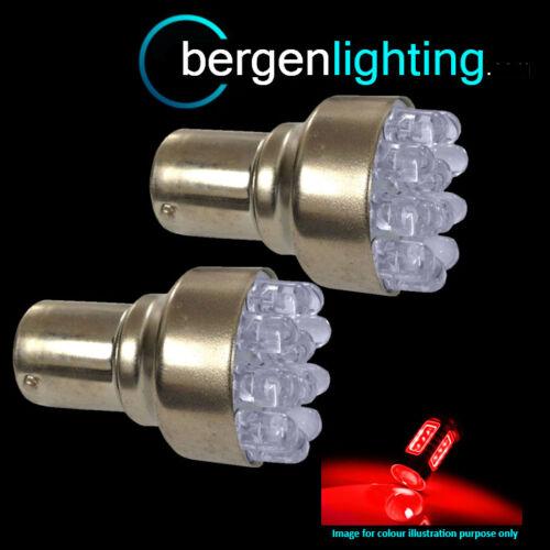 382 1156 BA15s 245 207 P21W XENON RED 12 DOME LED BRAKE LIGHT BULBS HID BL200202