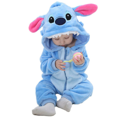 Baby Kinder Kapuze Strampler Overall Kigurumi Jumpsuit Tier Rompers Warme Outfit