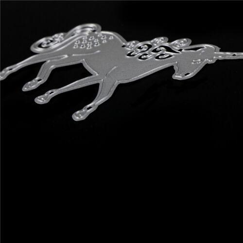 Einhorn Pferd Metall Stanzformen Schablone Scrapbooking Fotoalbum Karte Deco FBB