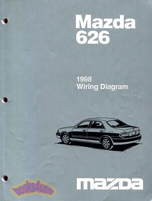 mazda 626 1998 shop manual service repair electrical wiring diagram book   ebay