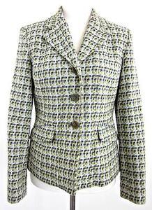 Image is loading Talbots-Wool-Blend-Italian-Fabric-Woven-Tweed-Sz-