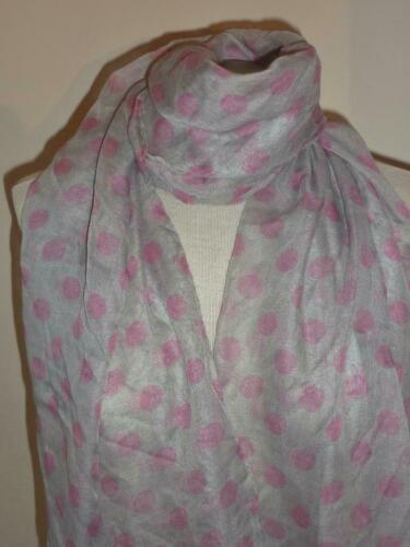 New Large Spotted Polka Dot Spotty Scarf// Wrap  Choice of 4 Colours