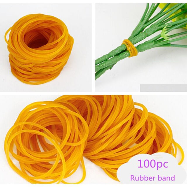 100pcs Rubber Band Set Office Supplies Ponytail Holder Band Elastic Ties Kit