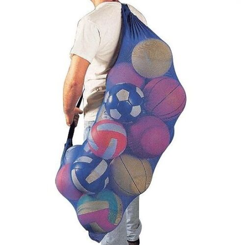 Large Mesh Bag Shoulder Straps Drawstring Double Stitched Heavy Duty Swim Class