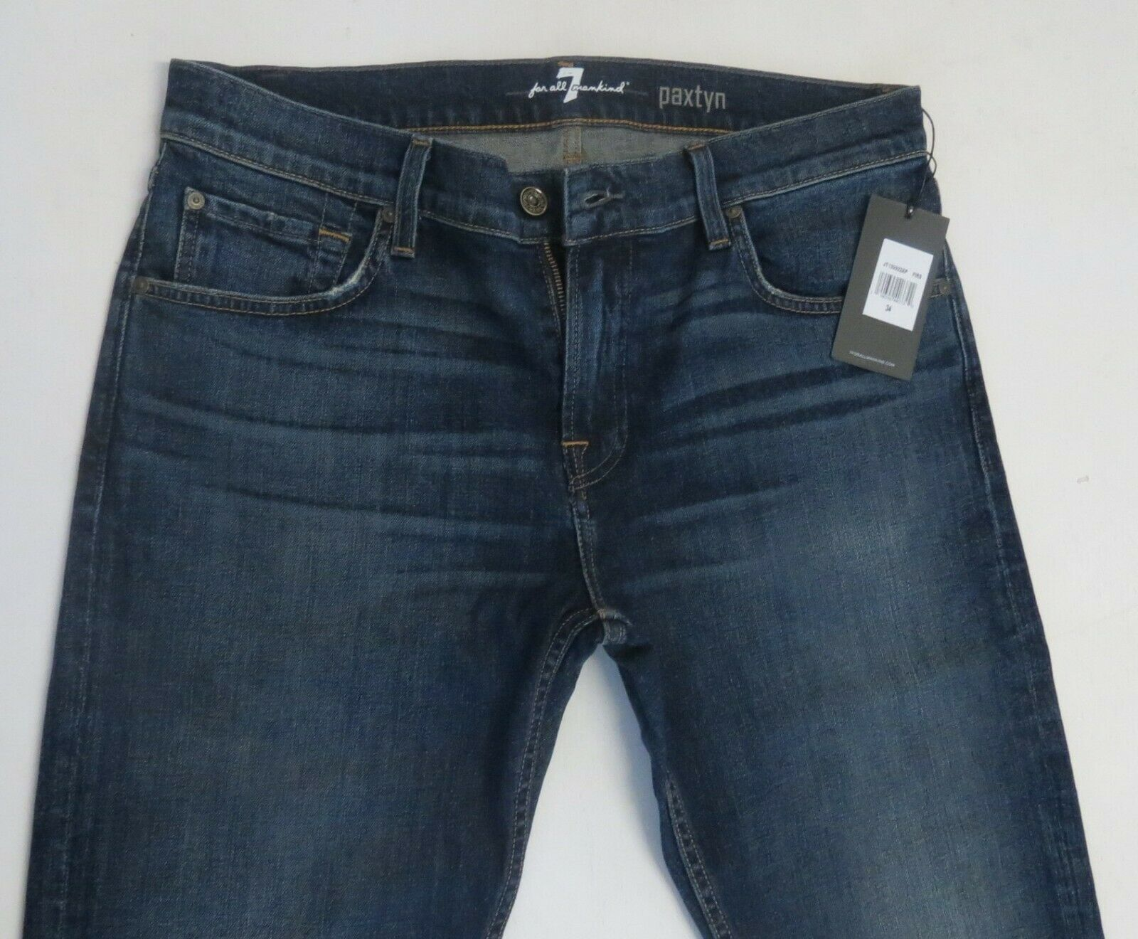 7 For All Mankind Men 34 W x 34 Paxtyn Firs Stretch Jeans Brand New with Tags