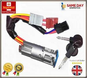 Peugeot-Partner-Citroen-Berlingo-Mk1-Ignition-Lock-Barrel-Starter-Switch-2-Keys