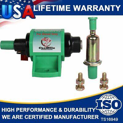12d Electric Fuel Pump 12v 4-7 PSI 35 GPH Diesel Fuel Pump 5//16 Inlet and Outlet External Fuel Pumps for V4 V6 V8 Carburetor