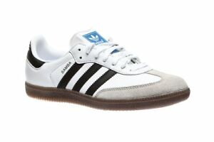 Mens-Adidas-Samba-OG-Cloud-White-Core-Black-Clear-Granite-Gum-Brown-BZ0057