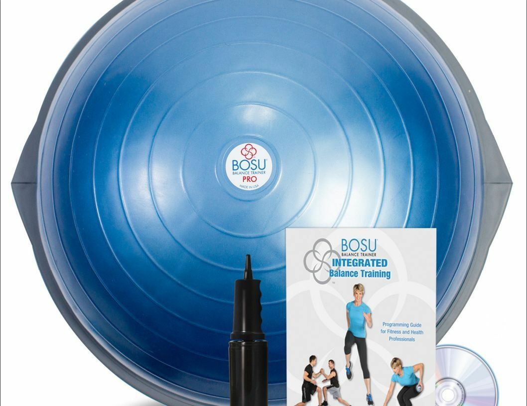 Bosu Ball Pro 65 cm Balance Trainer Exercise Gym Gym Gym Workout w/ Pump DVD & BOOK NEW 1f0d08